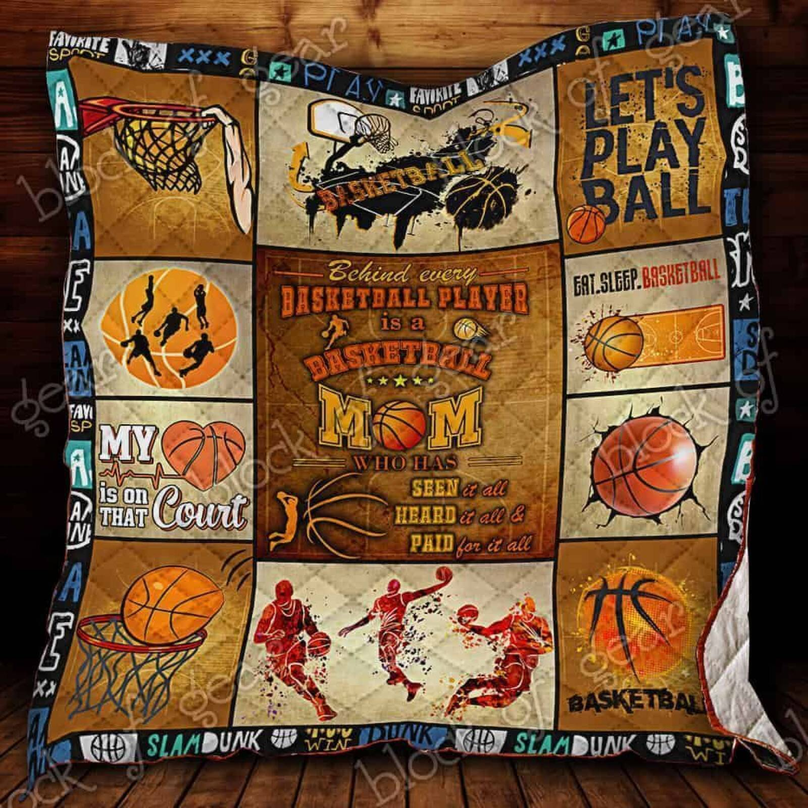 a perfect basketball mom jk1347 3d customized quilt 0