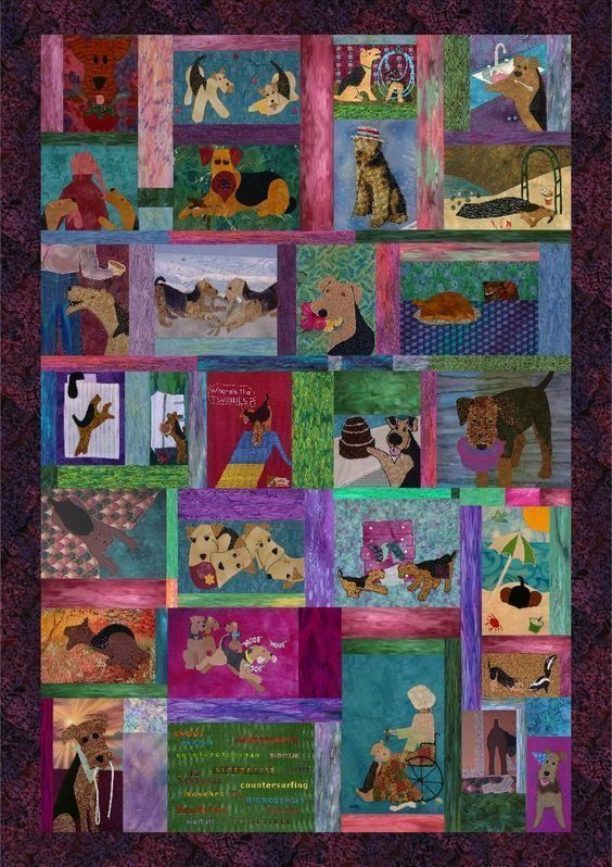 airedale terrier hur39023 3d customized quilt camli2707 0