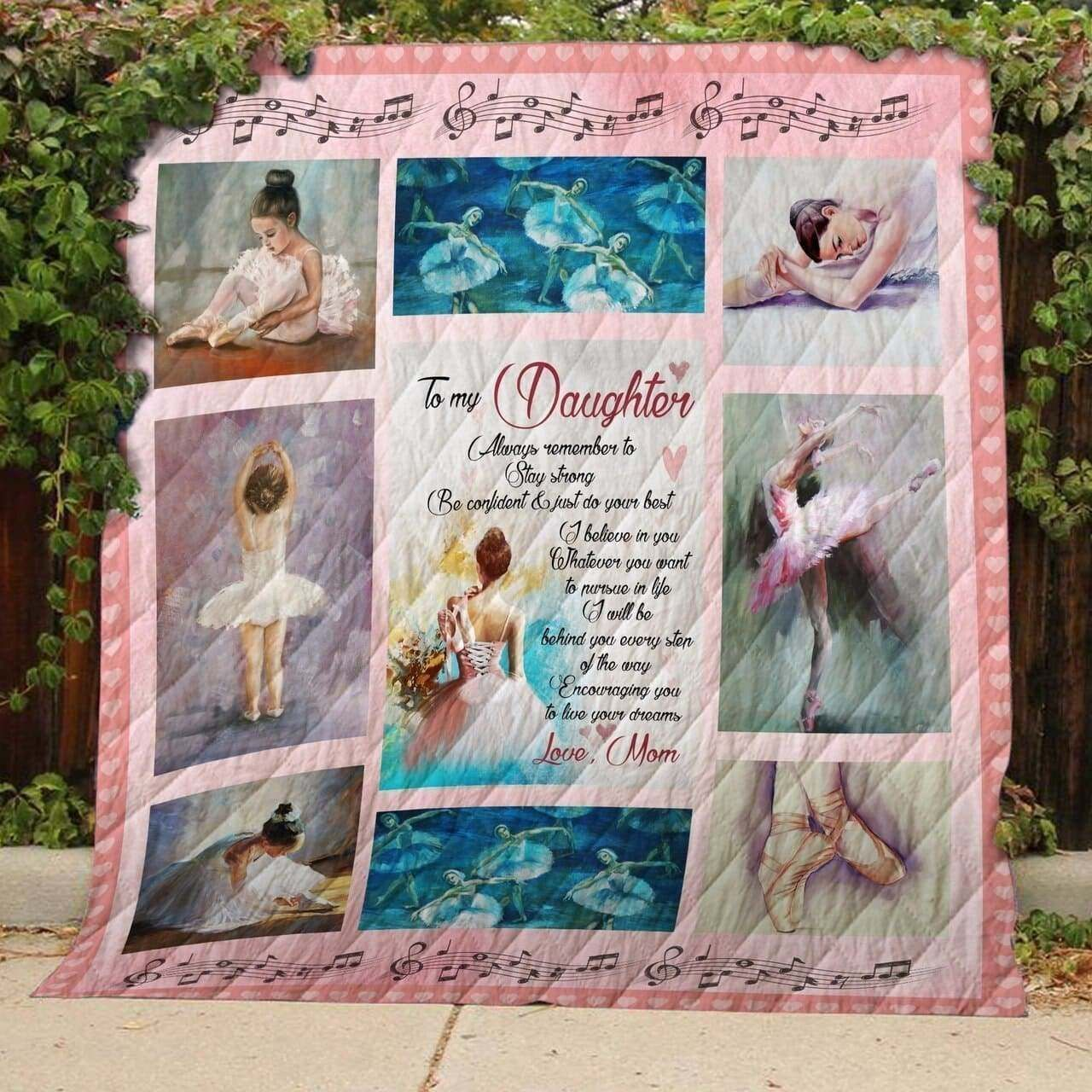 ballet i love you daughter 3d customized quilt 0