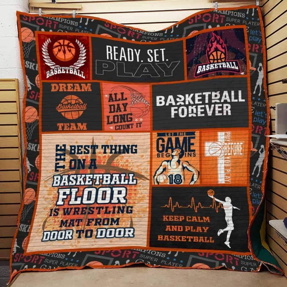 basketball forever 3d customized quilt 0