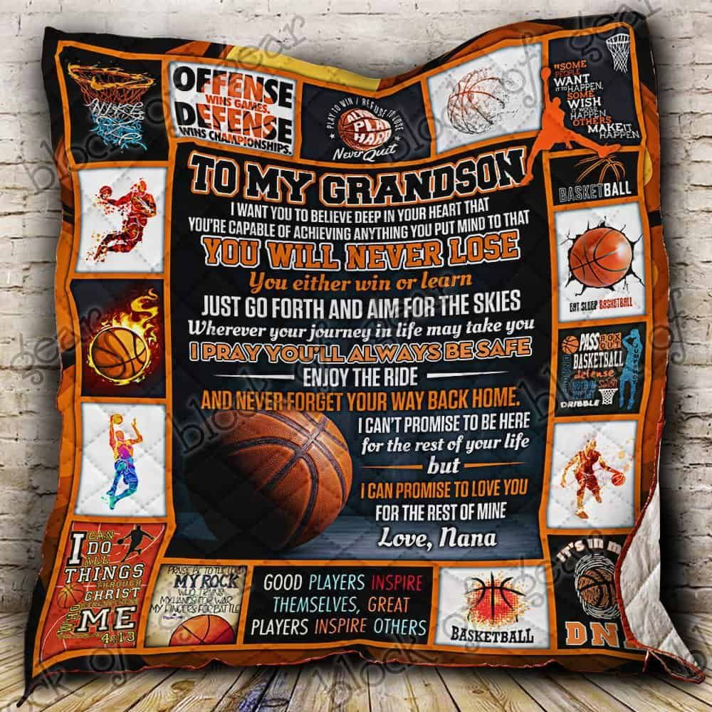 basketball grandson love nana hur22725 3d customized quilt camli2307 0