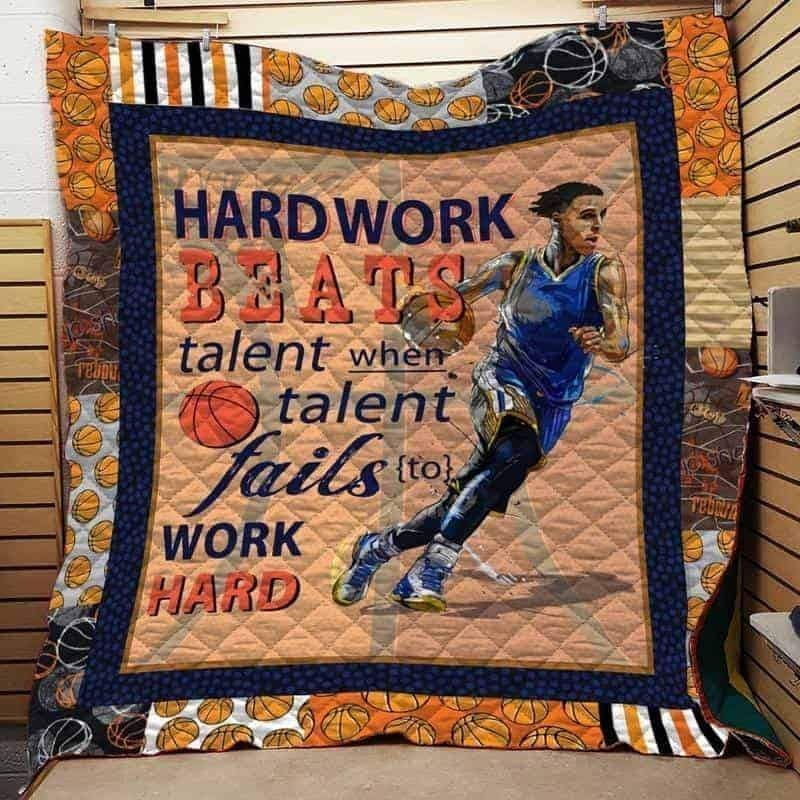 basketball hardwork beats 3d customized quilt 0