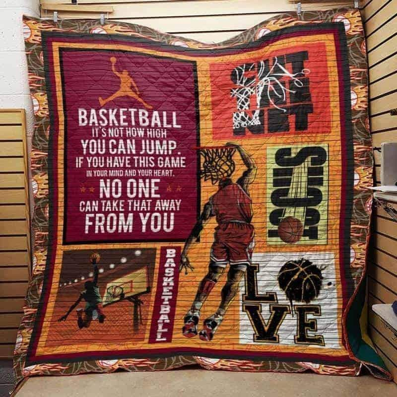 basketball it s not how high you can jump 3d customized quilt 0