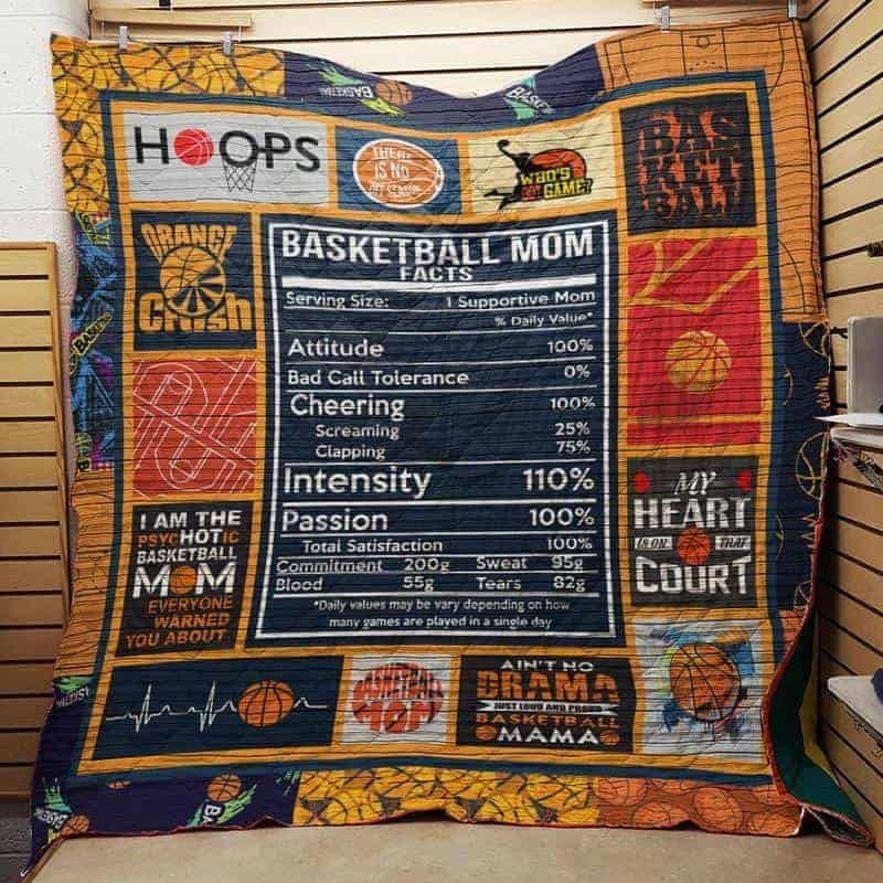 basketball mom hur24075 3d customized quilt camli2307 0