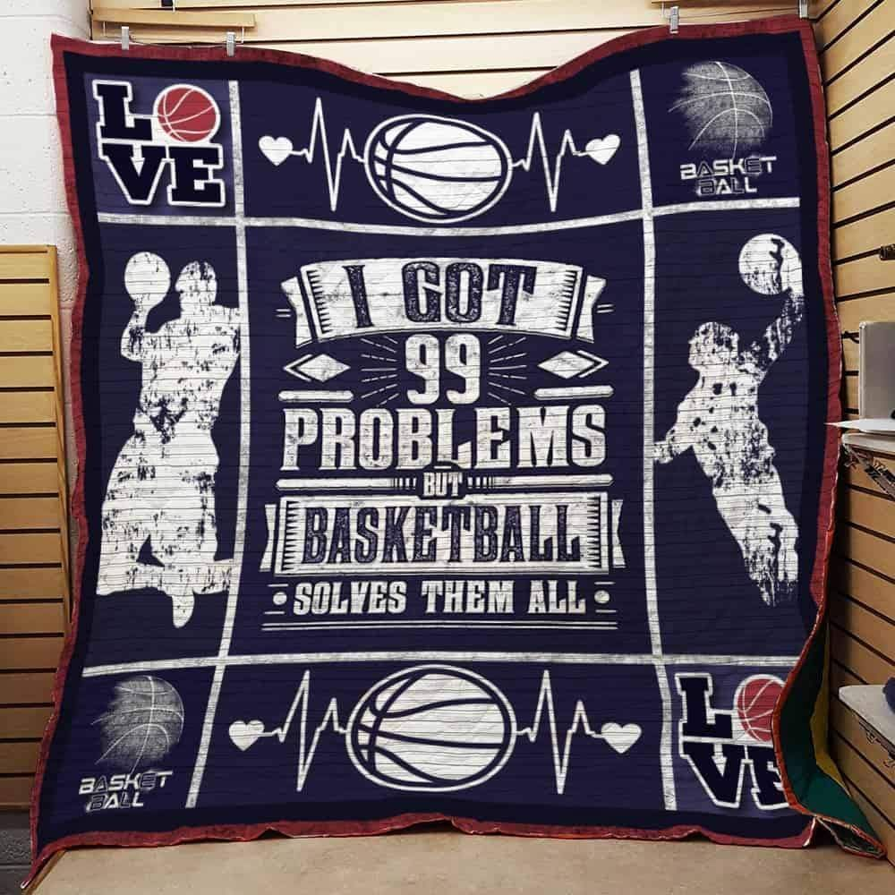 basketball solves them all 3d customized quilt 0