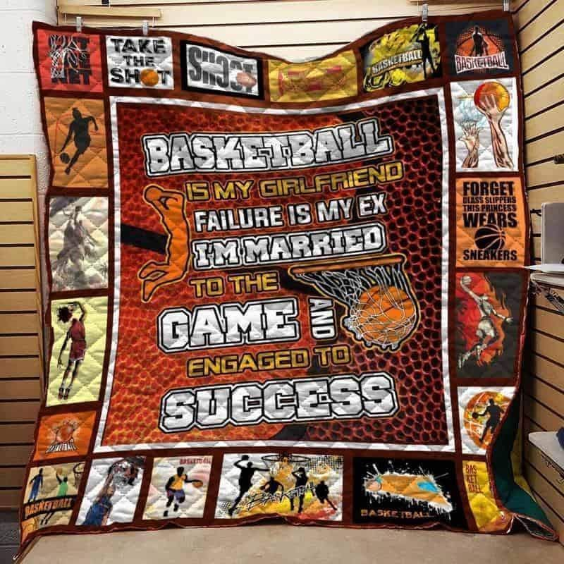basketball take the shot 3d customized quilt 0