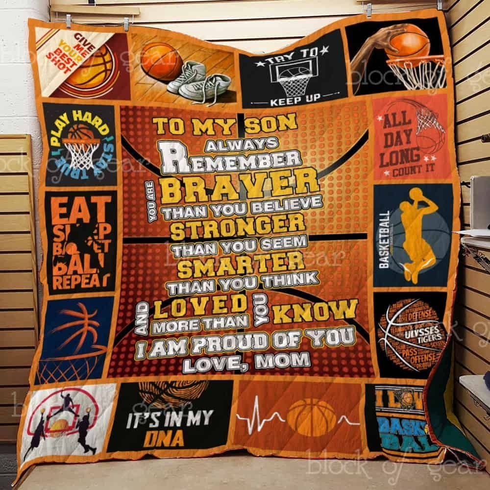 basketball to my son jh1135 3d customized quilt 0