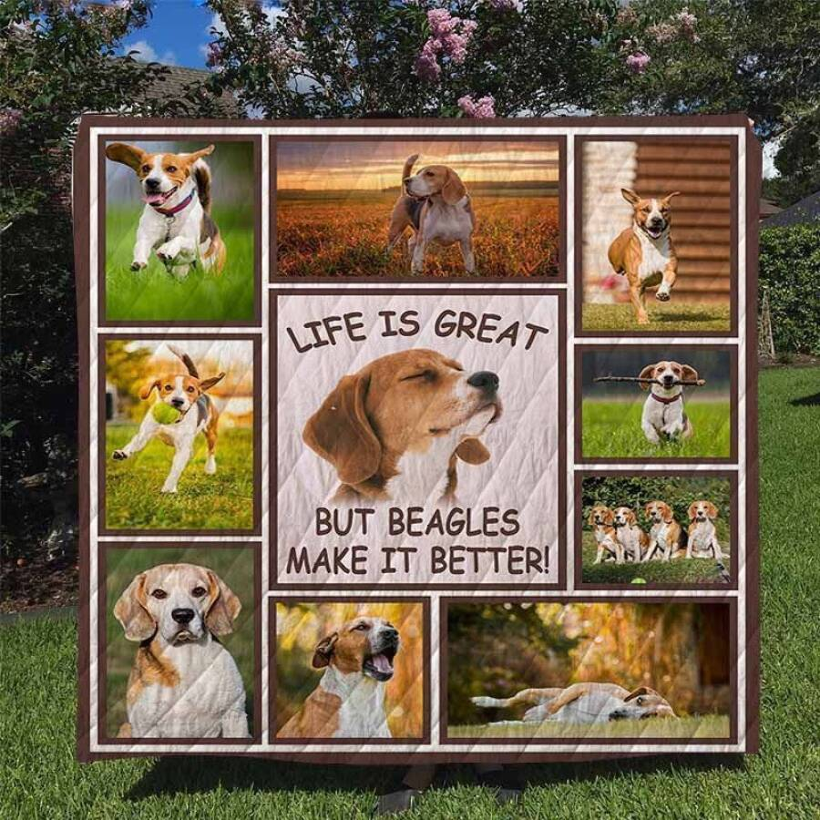 beagles dhc170120709td 3d customized quilt 0