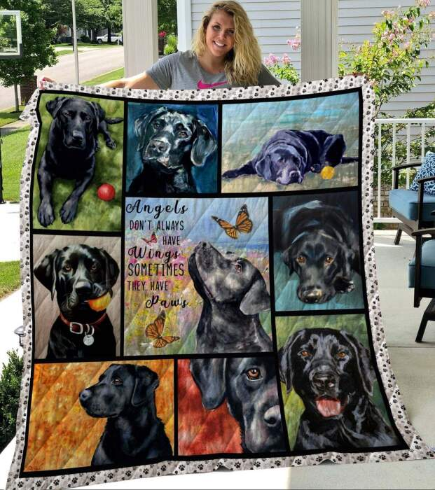 black labrador they have paws c2 3d customized quilt 0