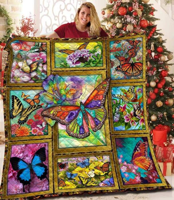 butterfly hh1 3d customized quilt 0