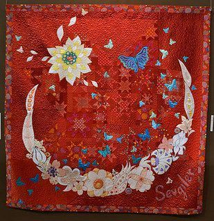 butterfly moon and flower hur38558 3d customized quilt camli2707 0