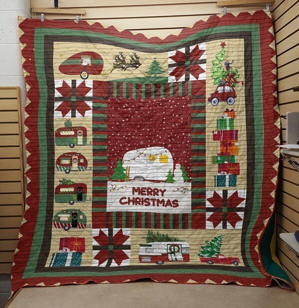 christmas camper isor698 3d customized quilt 0