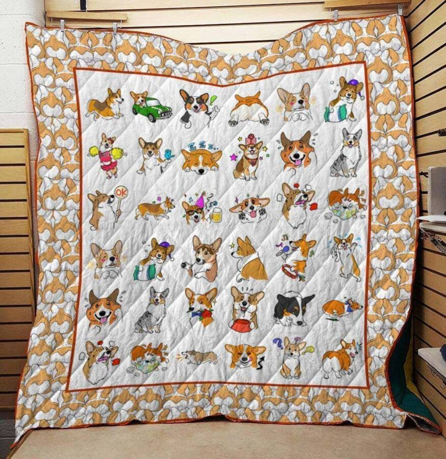 corgi lover ltk334 3d customized quilt 0