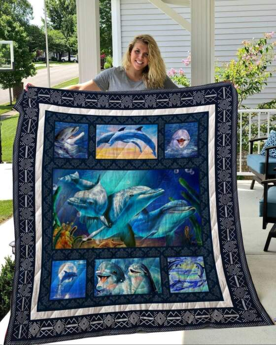 dolphin life 3d customized quilt 0