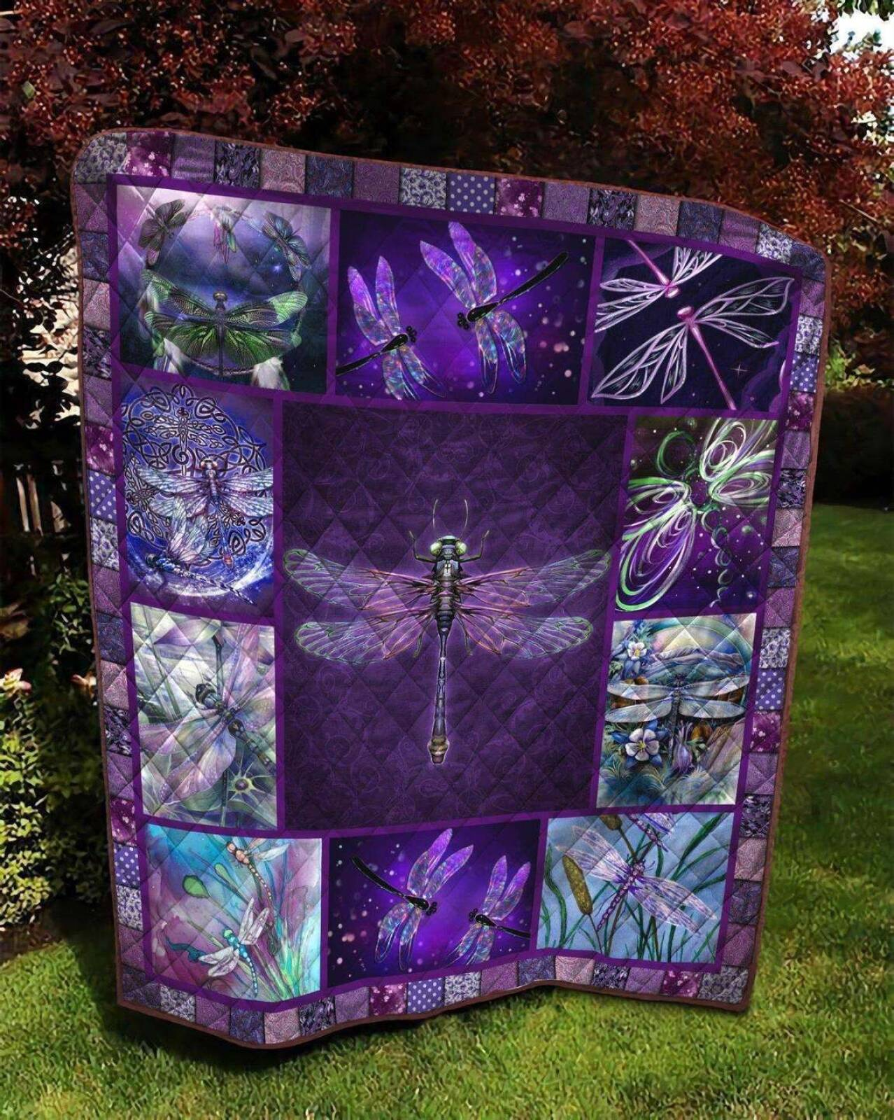 dragonfly klts171 3d customized quilt 0