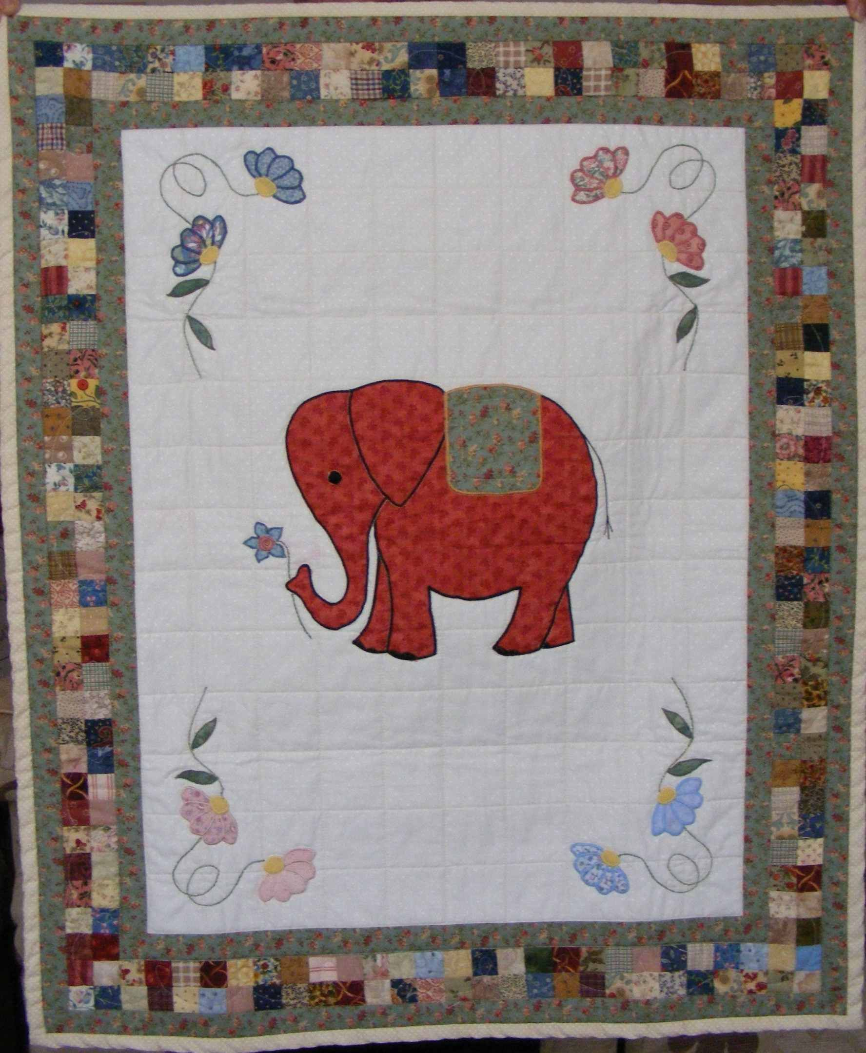 elephant hur39001 3d customized quilt camli2707 0