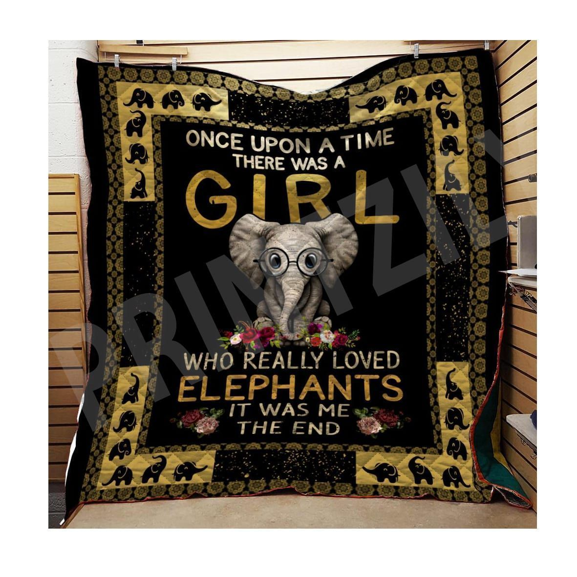 elephant once upon a time tqv030795 3d customized quilt 0