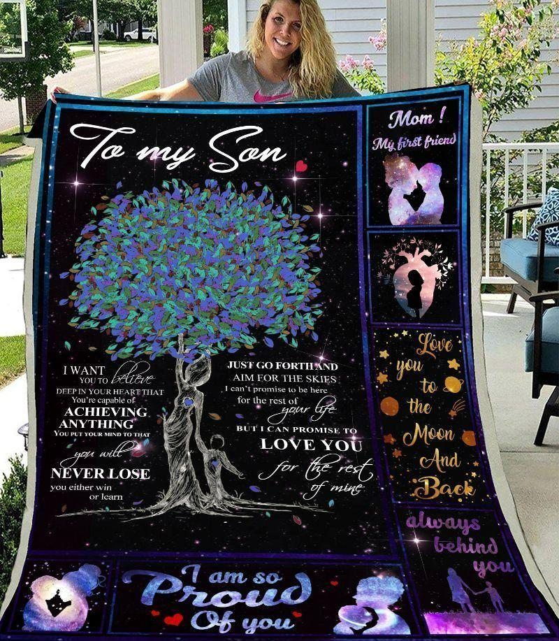 family to my son kkl137 3d customized quilt 0