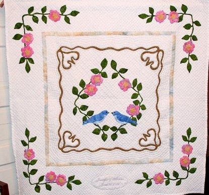 flower garden with bird hur12922 3d customized quilt camli2307 0