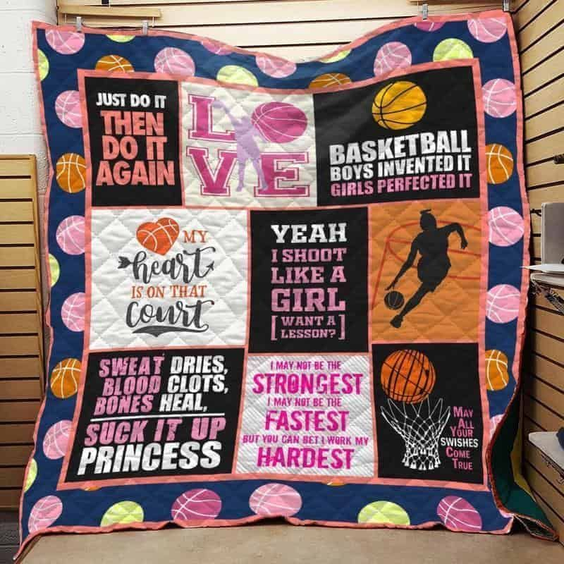 girl basketball hur12473 3d customized quilt camli2307 0