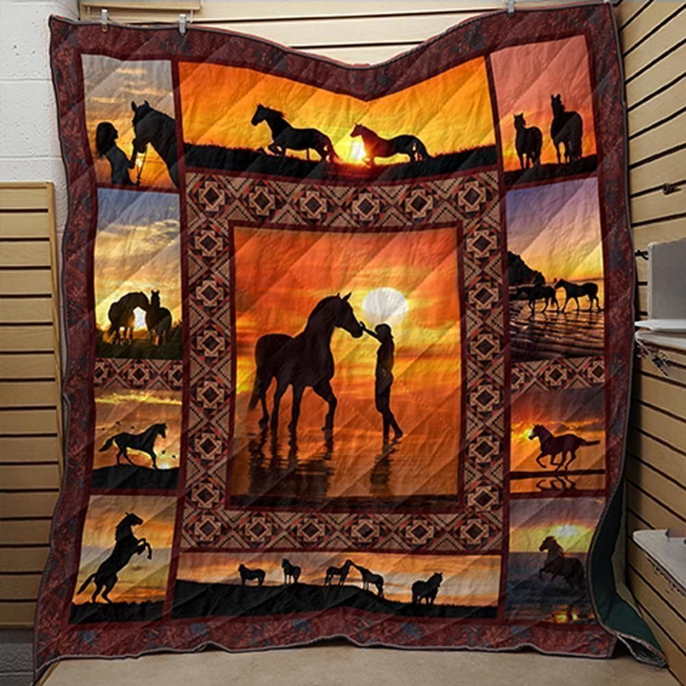 horse love horse 3d customized quilt klv1 0