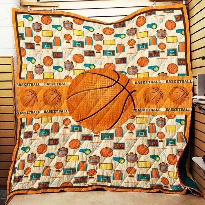 i love basketball 3d customized quilt 0