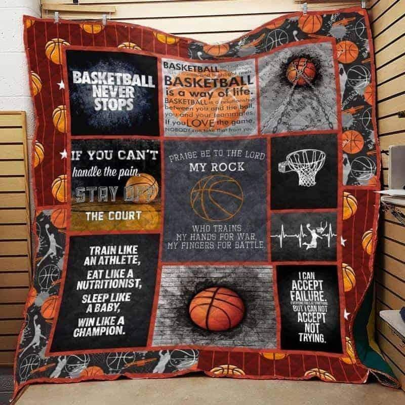 if you can t handle the pain basketball 3d customized quilt 0