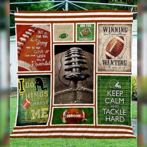 keep calm and tackle hard football american hur10713 3d customized quilt camli2307 0