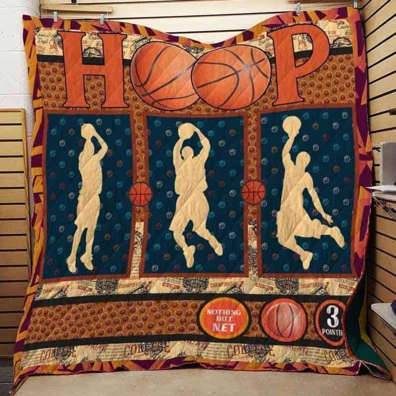 nothing but net basketball 3d customized quilt 0