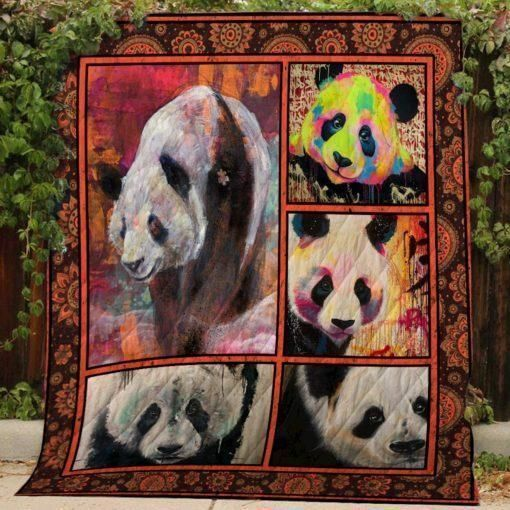 panda hjbb246 3d customized quilt 0