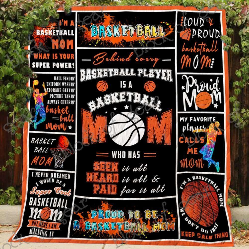 proud basketball mom jh211 3d customized quilt 0