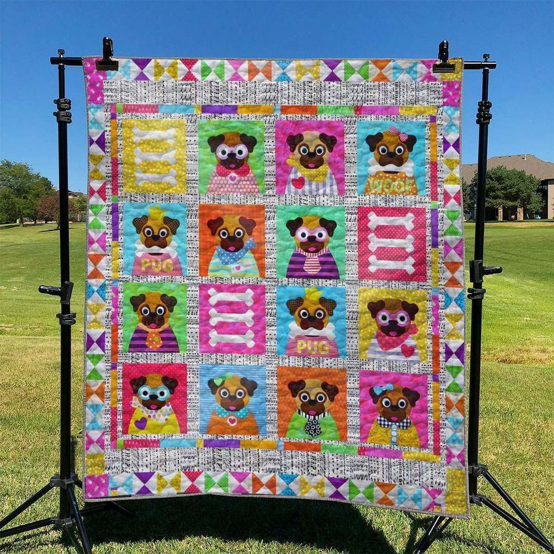pug vh010 awesome lki59 3d customized quilt 0