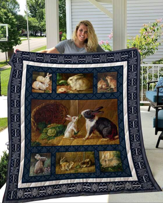 rabbit 3 kkl37 3d customized quilt 0