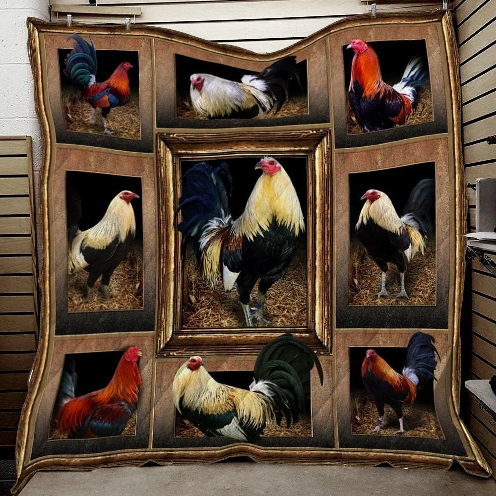 rooster kn26121924kn awesome lki147 3d customized quilt 0