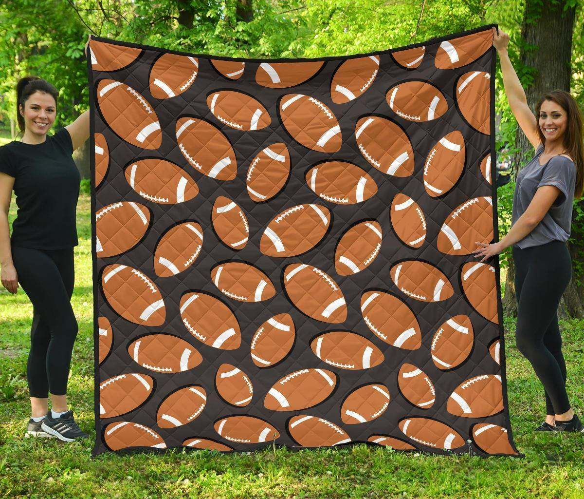rugby ball american football hur17945 3d customized quilt camli2307 0