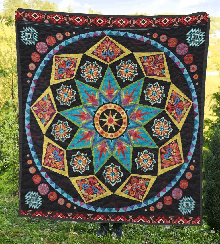 star pattern 3d customized quilt 0