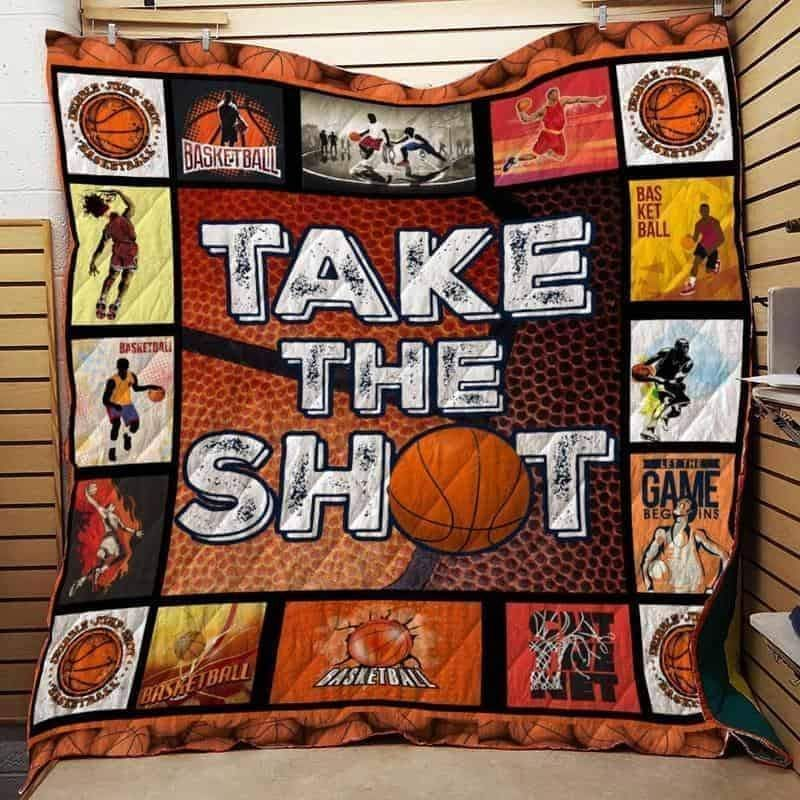 take the shot basketball 3d customized quilt 0