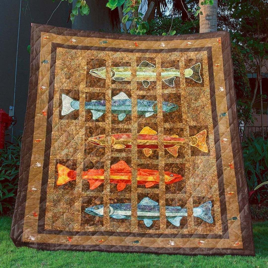 trout fishing hur28242 3d customized quilt camli2307 0