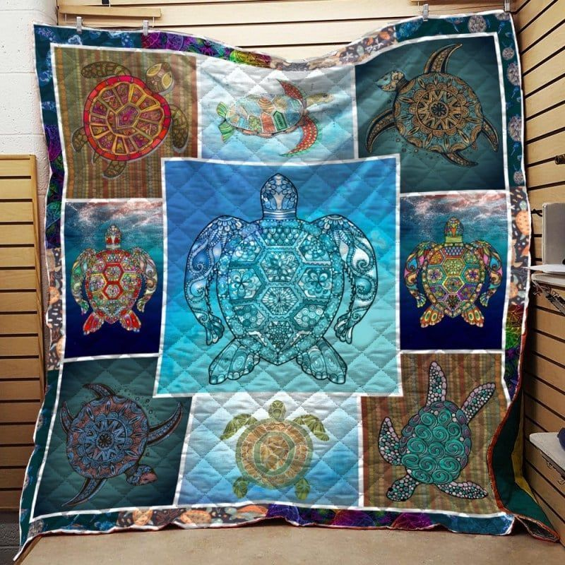 turtle wave of life nta020398 3d customized quilt 0