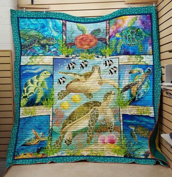 turtle yertle the nta020398 3d customized quilt 0