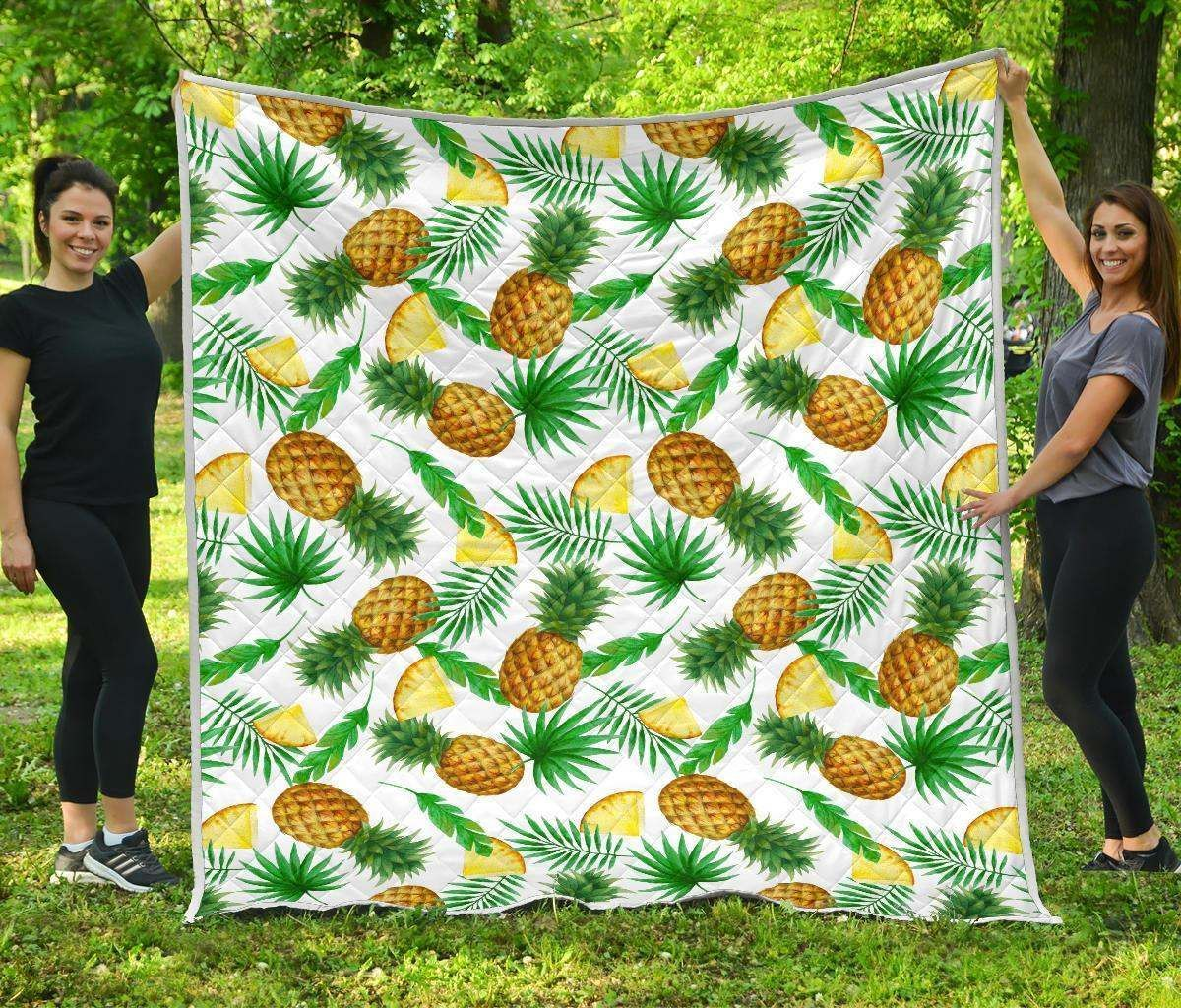 white watercolor pineapple hur8791 3d customized quilt camli2307 0